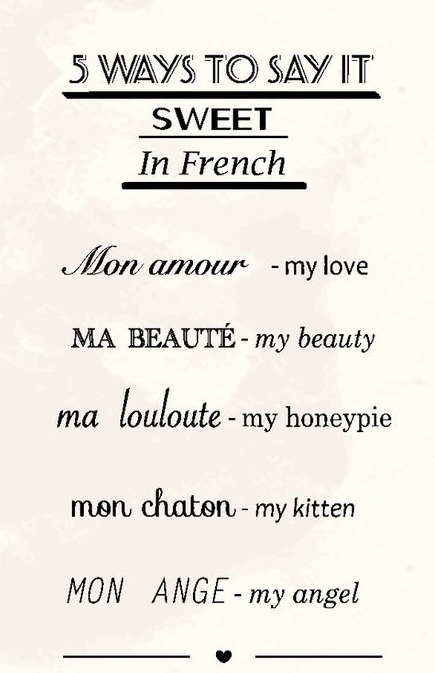 ''sweet'' in french