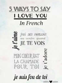 ''I love you'' in french