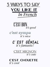 ''I like it'' in french